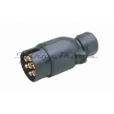 7 Pin Large Round Plastic Trailer Plug