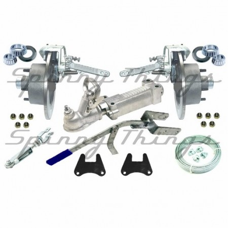 Mechanical Disc Brake Kit - Galvanised - Boat Trailer