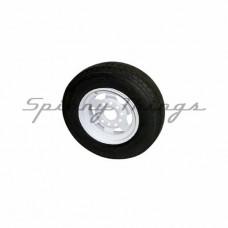 "10"" Rim White/Galvanised - MULTIFIT Ford & HT w/Light Truck Tyre"